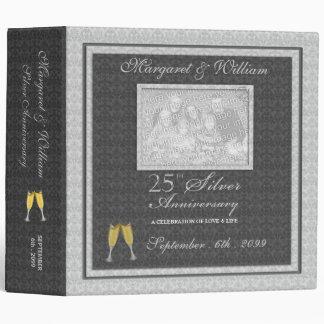 25to Carpeta de plata del libro de recuerdos del
