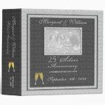 25to Carpeta de plata del libro de recuerdos del a