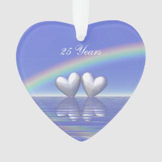 25to Corazones de plata del aniversario