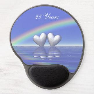 25to Corazones de plata del aniversario Alfombrilla Gel