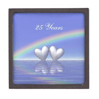 25to Corazones de plata del aniversario Caja De Regalo De Calidad