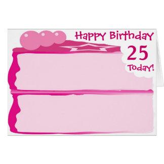 25to cumpleaños feliz tarjeta de felicitación