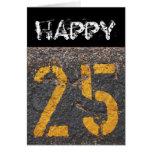 25to Cumpleaños-Tarjeta