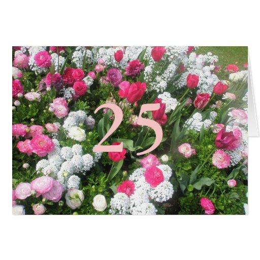 25to Cumpleaños Tarjeta De Felicitación