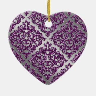 25to Damasco púrpura de la plata de la chispa del Ornatos