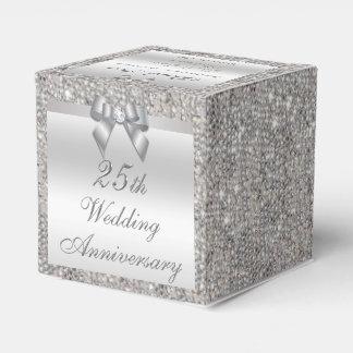 25to El personalizado del aniversario de bodas de Cajas Para Regalos