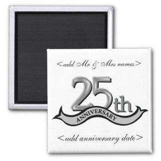 25to Favores de fiesta de aniversario Imanes