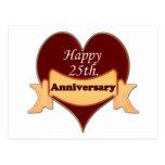 25to feliz. Aniversario Postal