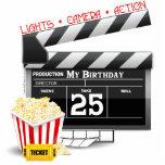 25to Fiesta de la película de Hollywood del cumple Esculturas Fotográficas