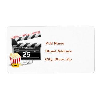 25to Fiesta de la película de Hollywood del cumple Etiqueta De Envío