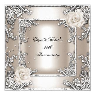 25to Fiesta de plata subió crema del boda del