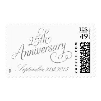 25to Franqueo del aniversario de bodas de plata Sellos