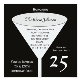 25to Golpe del cumpleaños de la invitación de la