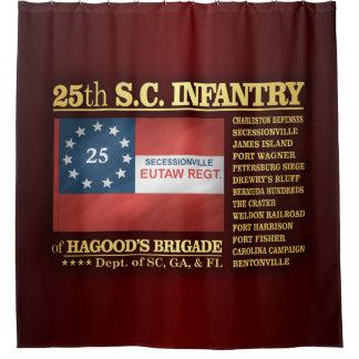 25to Infantería de Carolina del Sur (BA2) Cortina De Baño
