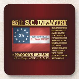 25to Infantería de Carolina del Sur (BA2) Posavasos De Bebidas