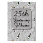 25to Invitación de la fiesta de aniversario Felicitación