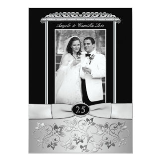 25to Invitación del aniversario de boda con la