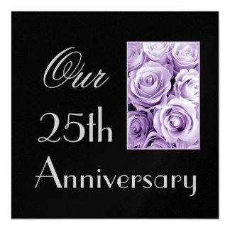 25to Invitación del aniversario - rosas de la