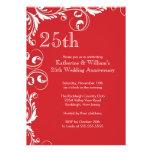 25to Invitaciones de la fiesta de aniversario del  Comunicados Personalizados