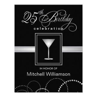 25to Invitaciones de la fiesta de cumpleaños - con Invitacion Personal