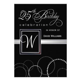 25to Invitaciones de la fiesta de cumpleaños - mon Comunicado