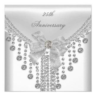 25to Joya de plata blanca del arco de la capa del Invitación 13,3 Cm X 13,3cm