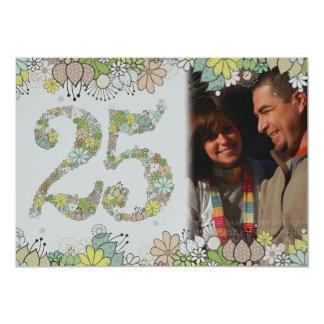 """25to La foto del aniversario de bodas de plata Invitación 5"""" X 7"""""""