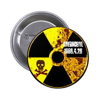 25to monumento del año de Chernóbil Pin Redondo 5 Cm
