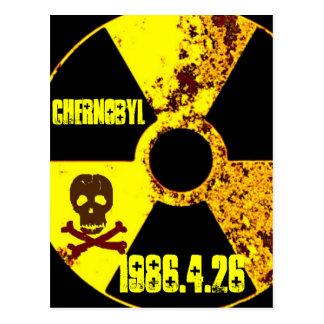 25to monumento del año de Chernóbil Postal