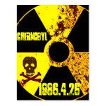 25to monumento del año de Chernóbil Postales