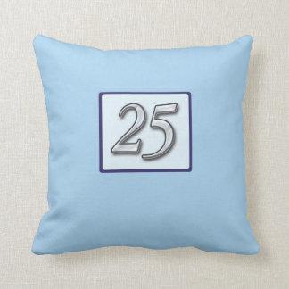 25to Número de plata del aniversario en azul