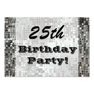 25to O cualquier invitación de la plata de la