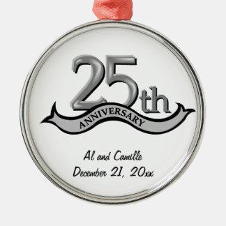 25to Ornamento de plata del recuerdo del aniversar Ornatos