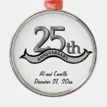 25to Ornamento de plata del recuerdo del Ornatos