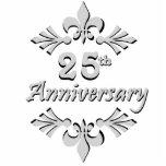 25to ornamento del aniversario de la flor de lis escultura fotografica