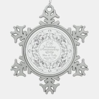 25to Ornamento del copo de nieve del Adorno De Peltre En Forma De Copo De Nieve