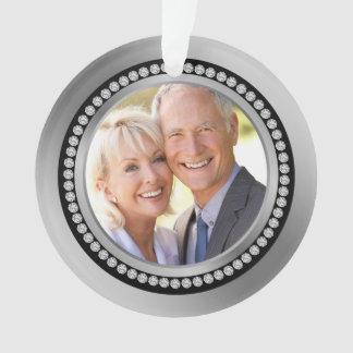 25to ornamento impreso del aniversario de boda de