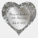 25to Pegatinas de plata de los corazones de las Pegatina Corazon