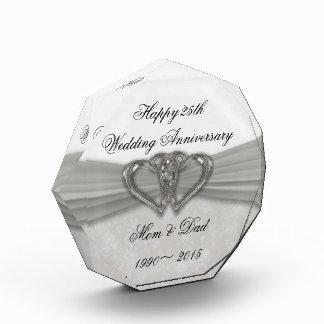 25to premio del aniversario de boda del damasco