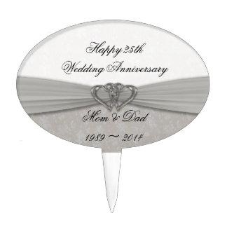 25to primero de la torta del aniversario de boda figuras para tartas