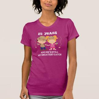 25to Regalo divertido del aniversario de boda para Camisetas