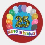 25to Regalos de cumpleaños con diseño clasificado  Etiquetas Redondas
