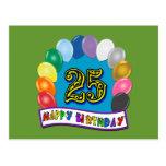 25to Regalos de cumpleaños con diseño clasificado  Postal