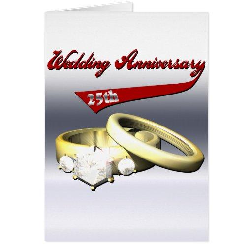 25to Regalos del aniversario de boda Felicitación