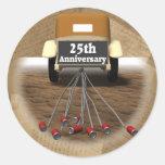 25to Regalos del aniversario de boda Pegatina Redonda