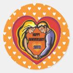 25to Regalos del aniversario de boda Etiquetas Redondas