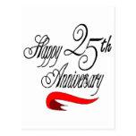 25to Regalos del aniversario de boda Postal
