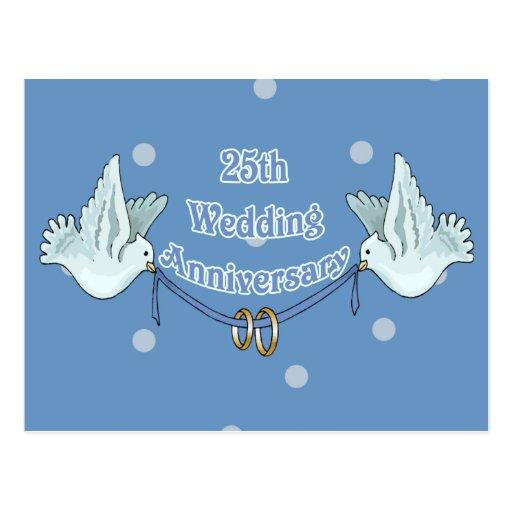 25to Regalos del aniversario de boda Tarjetas Postales