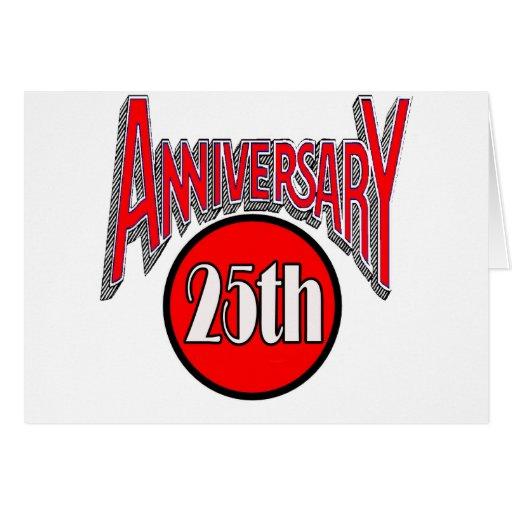 25to Regalos del aniversario de boda Tarjetas