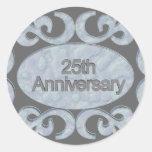 25to Regalos del aniversario Pegatina Redonda